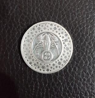 Medalla De Plata Pura .999 Signos Del Zodiaco Cancer Dije