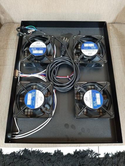Kit Sistema Ventilação Rack 19 U 4 Ventiladores Bivolt