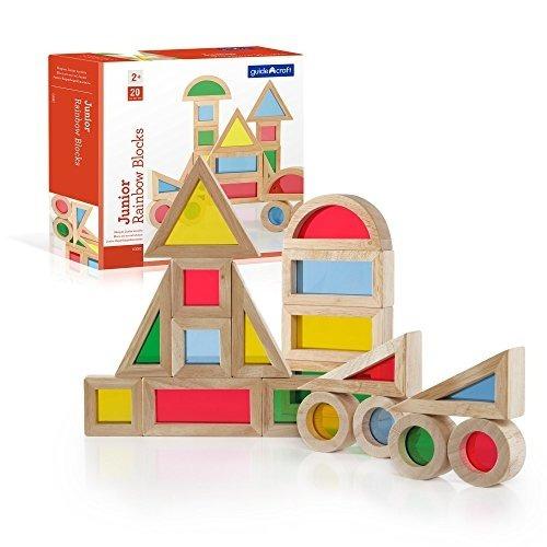 Guidecraft Jr. Rainbow Block 20 Piezas Set