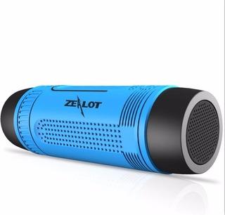 Altavoz Linterna Bluetooth Bicicleta Luz Led Zealot S1 Azul