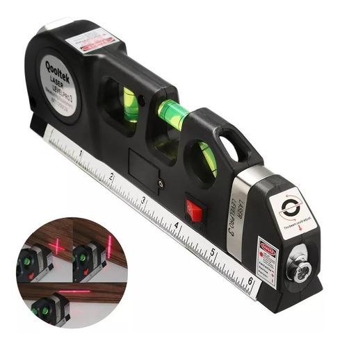 Nivel Laser Con Metro Tres Burbujas Alineador Multiproposito