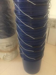 Lote De45 Cubetas De 19 Litros Con Tapa Color Azul. Nuevas