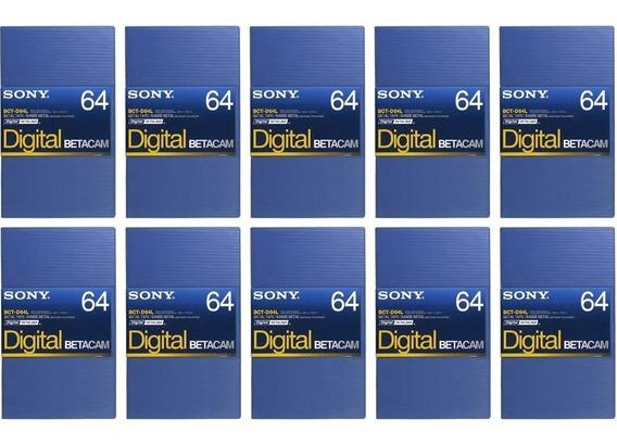 Sony Fita Video Betacam Digital Bct-d64l 64 Minutos Kit 10