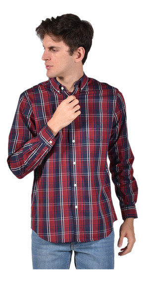 Camisa Stretch Fit Chaps Rojo 750723577-34k0 Hombre