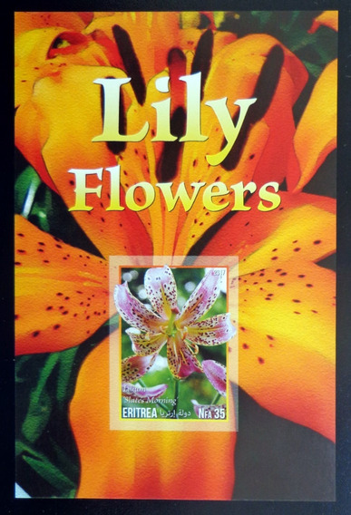 Eritrea Flores Bloque 1 Sello S Dentar Lirios 17 Mint L10016