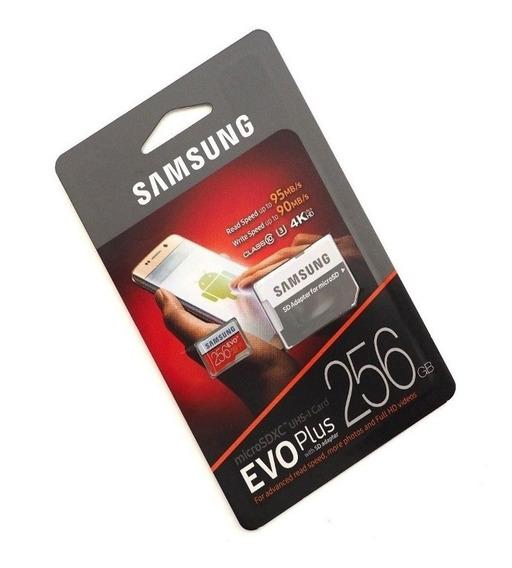Cartão Samsung Micro Sdxc Evo Plus 256gb 100mb/s Sem