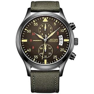 Jedir Hombres Militar Cronografo Reloj De Cuarzo Reloj De
