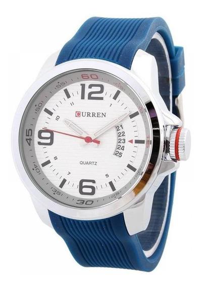 Relógio Masculino Curren Analógico Casual 8174 Azul