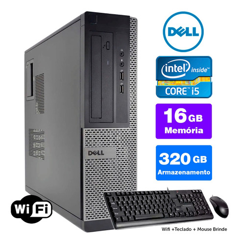 Computador Usado Dell Optiplex Int I5 2g 16gb 320gb Brinde