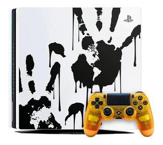 Sony PlayStation 4 Pro 1TB Death Stranding Limited Edition blanco y negro