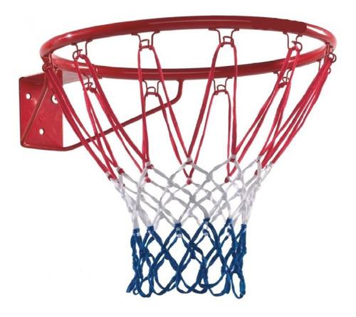 Aro Baloncesto Basquetbol En Hierro Con Malla + Envio Gratis