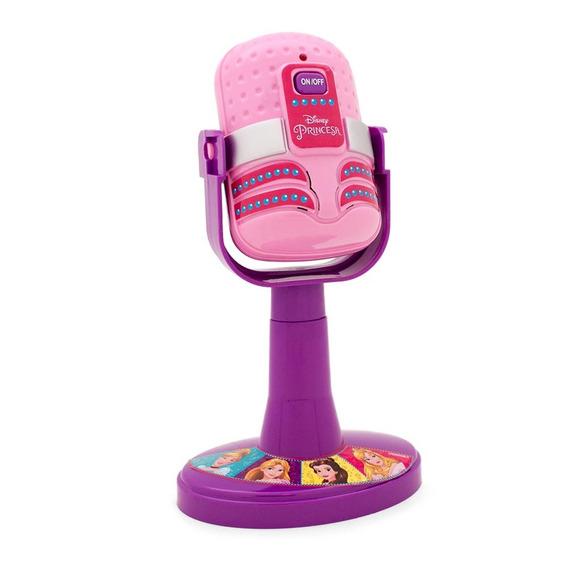 Microfone Infantil Com Amplificador Princesas Disney Com Luz