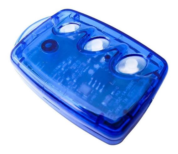 Controle Remoto Linear Hcs Mini Rf 3 Tc-b Azul Não Clonável