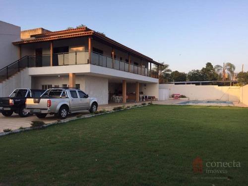 Chácara Com 2 Dormitórios À Venda, 850 M² Por R$ 1.350.000,00 - Parque Da Represa - Paulínia/sp - Ch0019