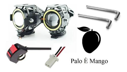 Imagen 1 de 8 de 2 Exploradoras Led Ojo Angel Grande Moto/ Carro + Accesorios