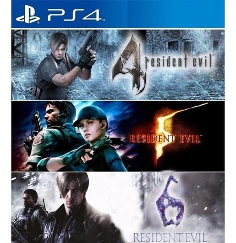 Resident Evil 4 5 Y 6 Pack Triple Ps4 Digital