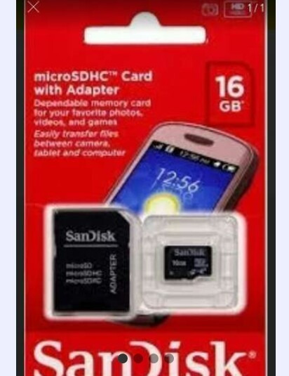Kit De20 Cartão De Memória Sandisk De 16gb Com Adaptador.