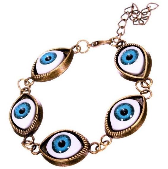 Pulseira Talismã Amuleto Olho Grego Proteção Sorte Saúde