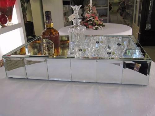 Bandeja Espelhada Bizotada Grande Bar 80x40x10
