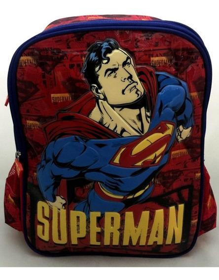 Mochila Escolar Costas Superman Super Homem Original Luxcel