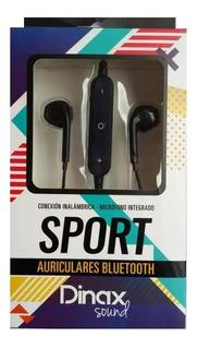 Auricular Bluetooh Dinax Sport In Ear Manos Libres Negros