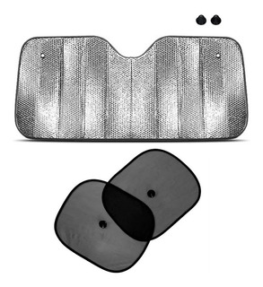 Kit Parasol Metalizado 60x130cm + 2 Parasol Ventanilla Auto