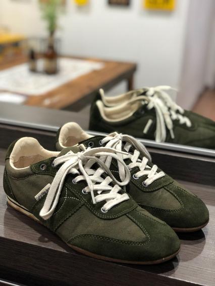 Tênis Calvin Klein Jeans Original Modelo Mack Verde 42 Usado