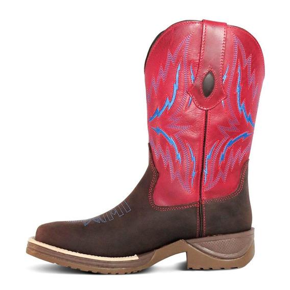 Bota Country Texana Silverado Bq Couro Crazy Horse E Fóssil