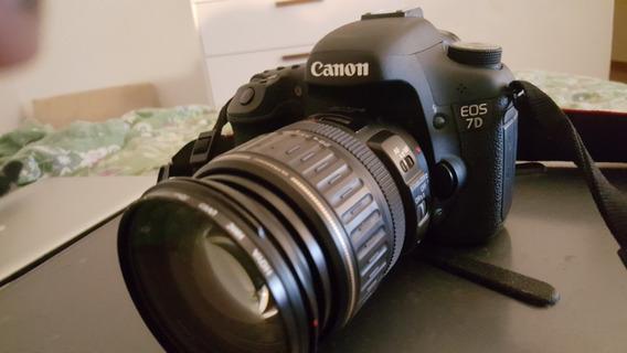 Máquina Fotográfica Canon 7d Com Lente 28-135mm