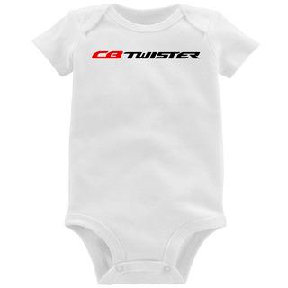 Body Bebê Moto Honda Cb 250 F Twister Logo