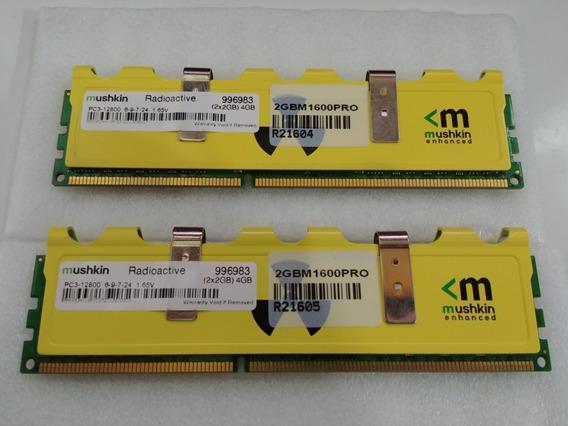 Memorias Mushkin Radioactive Kit 2x2gb 4gb Ddr3 1600 Pc3-12800