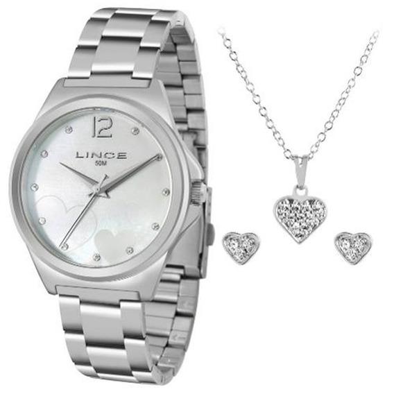 Kit Relógio Lince Analógico Feminino Lrm4560l