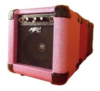 Amplificador Guitarra Electrica 10w Mega Pl105 Pink