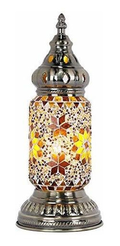 Marrakech Lampara De Mesa Turca Mosaico Vidrio Decorativa H