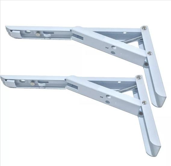 Mensula Rebatible 35cm Blanco (x Par) Con Resorte
