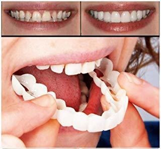 Dentadura Postiza Superior Adhesiva, Dientes Blancos