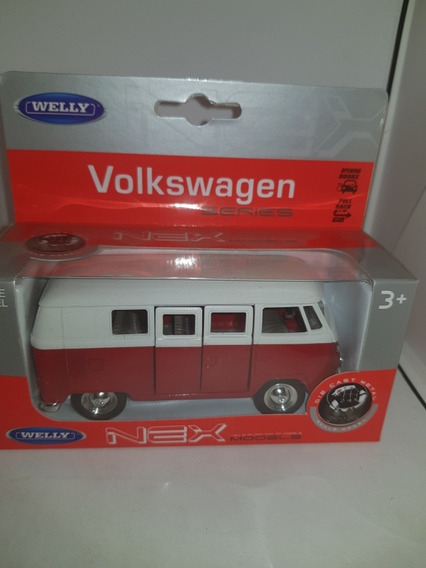 Volkswagen Kombi Welly No Inolvidables Rojo /bordo 1:32