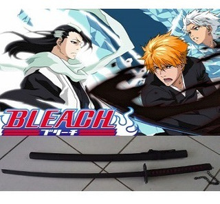 Espada Bleach Ichigo Kurosaki Katana Aço Black 1,40 Cosplay