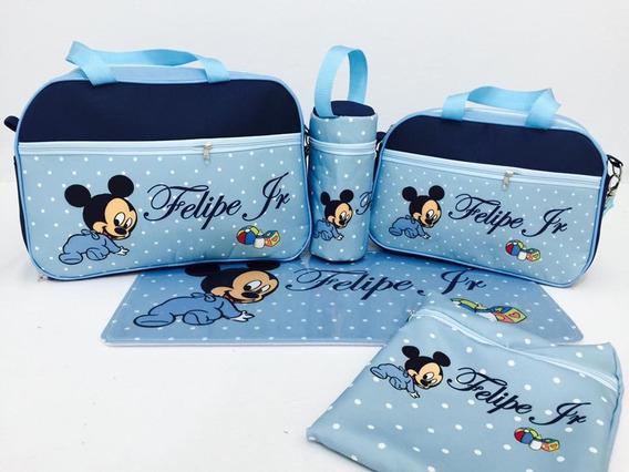 Kit De Bolsas De Bebê 5 Peças Mickey Baby