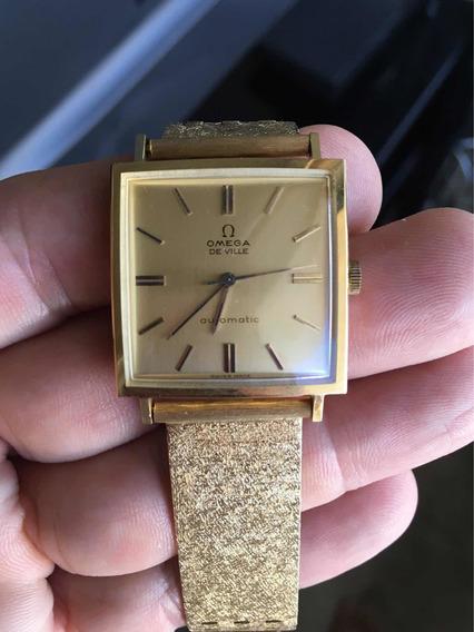 Reloj Omega Oro De 18k Modelo Deville Automático Vintage