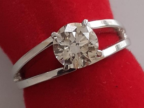 Anel Solitario Com Diamante Cultivado