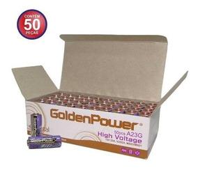 Bateria A23 12v Caixa 50pçs Pilha Controle Portão Alarme