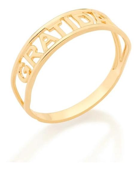 Anel Rommanel Skinny Ring Gratidão 512850 Simone E Simaria