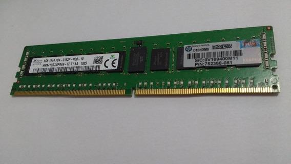 Memoria Serv Hp 8gb 2133mhz Ddr4 Cl15 Rdimm 288-nunca Usado