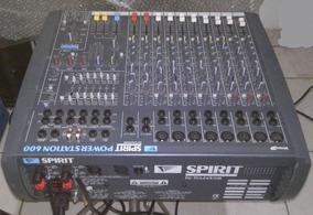 Mesa Som Soundcraft Amplificada 600 Rms Efeito Equlizador