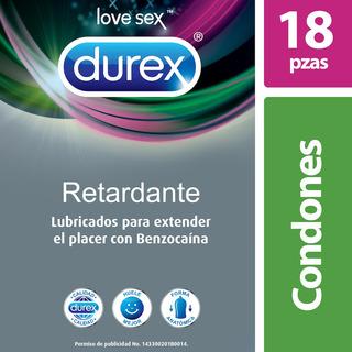 Durex Retardante Con Benzocaína, Cartera Con 18 Condones