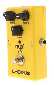 Pedal Nux Ch-3 Chorus Analógico Guitarra Pronta Entrega