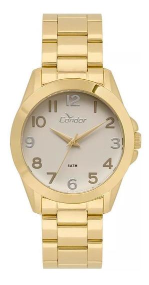 Relógio Condor Feminino Dourado Clássico Co2035kwx/4c