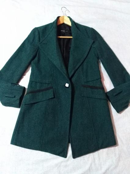Abrigo Damas De Lana Talla M Importado Verde