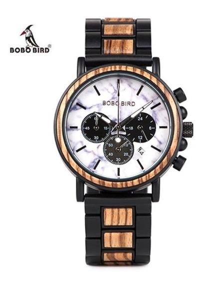 Reloj De Madera Bobo Bird Original Dos Colores